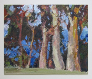 "'Embrace', Tasmania. Acrylic on canvas board 2013 12"" x 10"""