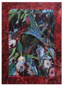 'Eucalypt Flowers', Tasmania Acrylic on canvas 2011 21cm x 30cm