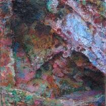 Small Cave Entrance, Mells Acrylic on board 2015 30 x 30cm